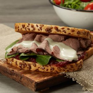 Roast Beef and Blue Cheese Sandwich